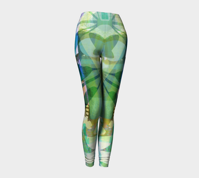 Graceful Sappling Collage Leggings by Deloresart