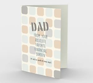 1252. Dad Financial Burden  Card by DeloresArt
