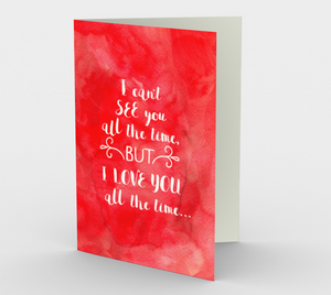 1421 Love You All The Time Card by Deloresart