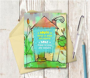 0401 Home Love And Dreams Note Card