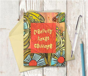 0405 Creativity Takes Courage Note Card