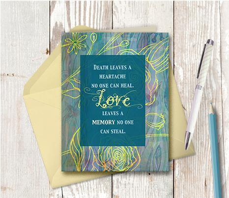 0409 Death Leaves A Heartache Note Card