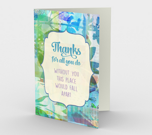 1176. Thanks For All You Do Card by Deloresart
