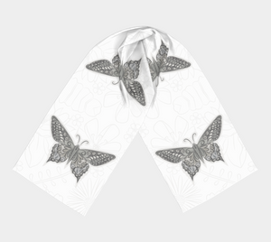 Antique Butterfly Scarf  by Deloresart