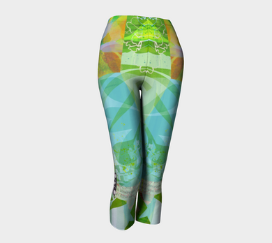 Abounding Alder Collage Capris by Deloresart
