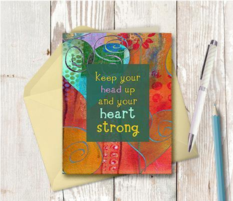 0423 Heart Strong Note Card