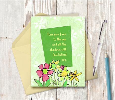 0428 Face To The Sun Note Card