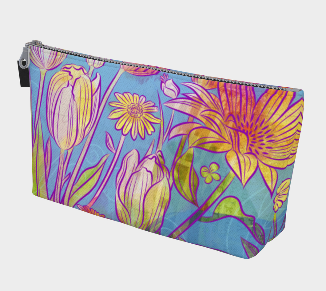 Rebel Yell Tulips Makeup Bag