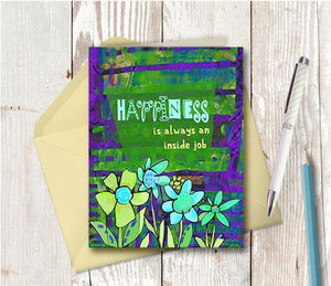 0430 Happiness Inside Job Note Card