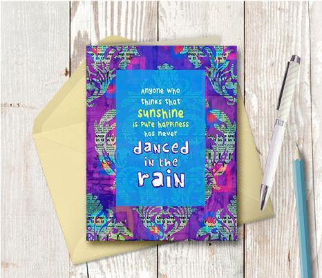 0434 Sunshine Rain Note Card