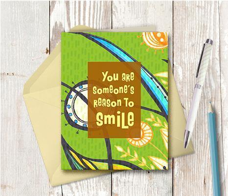 0442  Reason To Smile Note Card