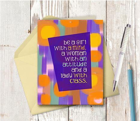0443 Be A Lady With Class Note Card