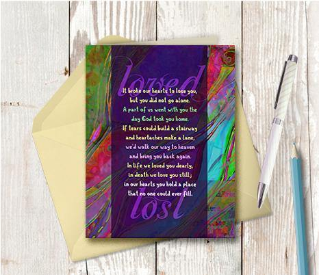 0447 Broke Our Hearts To Lose You Note Card