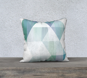 Unhinged Blues Throw Pillow by Deloresart