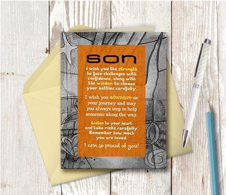 0456  Son I Wish You Note Card
