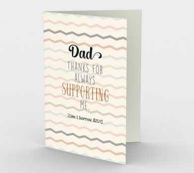 1245. Dad Thanks For Supporting Me  Card by DeloresArt