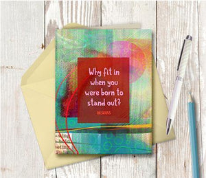 0465  Stand Out Dr Seuss Note Card