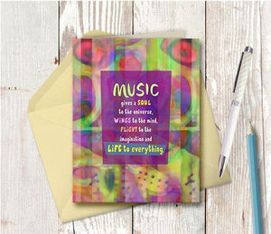 0467 Music Always Has The Answer Note Card