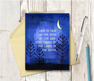 0478 Silvery Moon Note Card