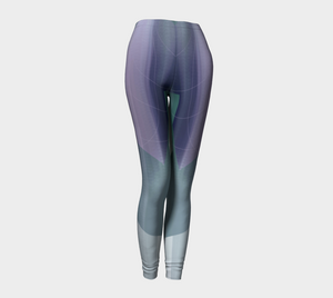 Satin Symmetry Purple Leggings by Deloresart