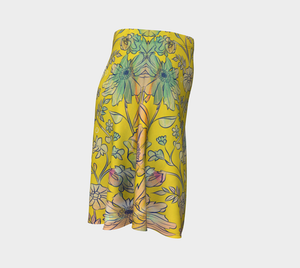 Francella Yellow Flare Skirt by Deloresart