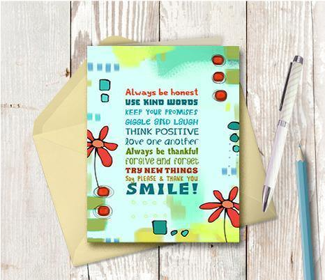 0493 Always Tell The Truth Note Card