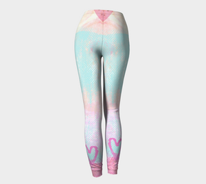 The Snuggle is Real Leggings by Deloresart