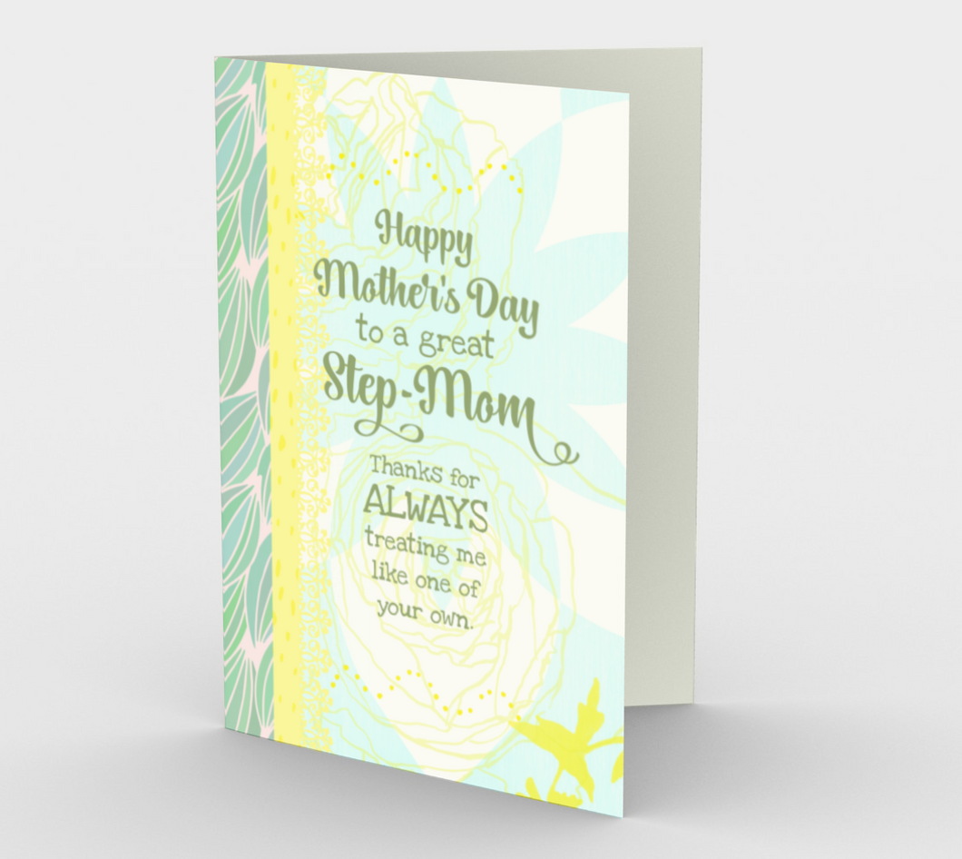 1153. Step Mom Mother's Day  Card by DeloresArt