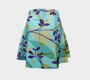 Fanciful Forest Flare Skirt by Deloresart