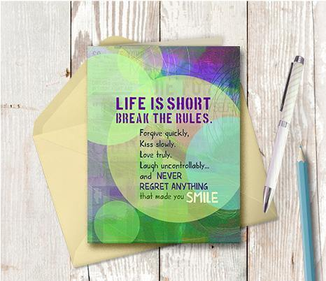 0503 Life Is Short Note Card