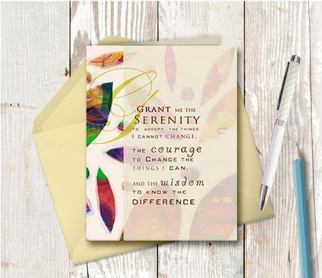 0506 Serenity Prayer Note Card