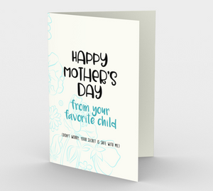 1061.Happy Mother's Day From Your Favourite  Card by DeloresArt