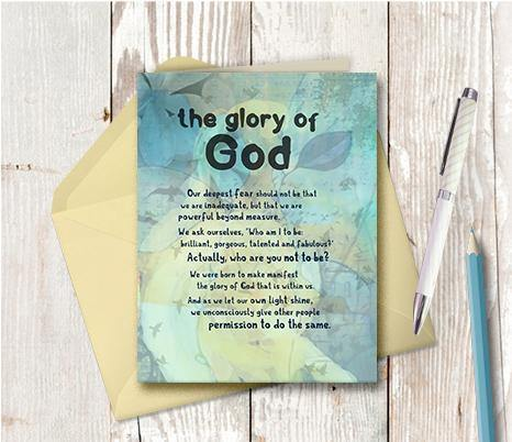 0513 Glory Of God Note Card