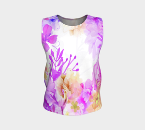 Nature's Bounty Loose Tank in Purples and Golds