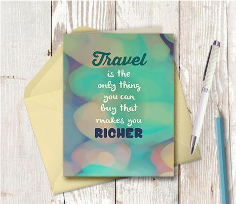 0516 Travel Richer Note Card