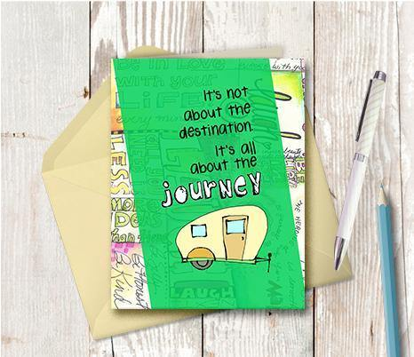 0521 Destination Journey Camper Note Card