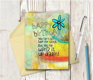 0528 Wind Up The Clock Again Note Card