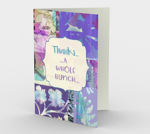 1177 Thanks A Whole Bunch Card by Deloresart