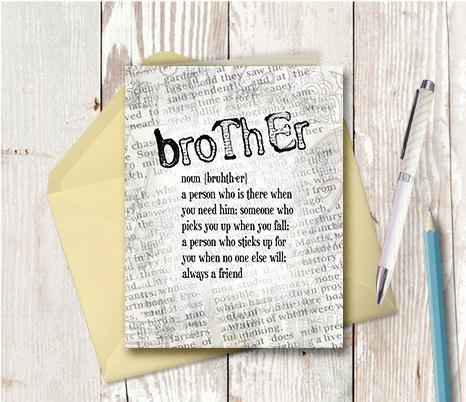 0532 Brother Note Card