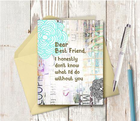0535 Dear Best Friend Note Card