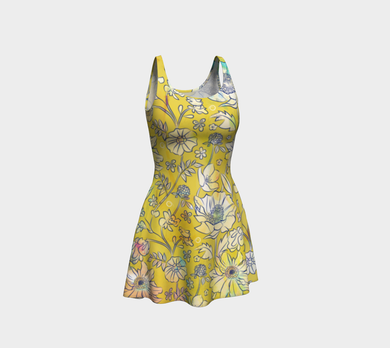Francella Yellow Dress by Deloresart