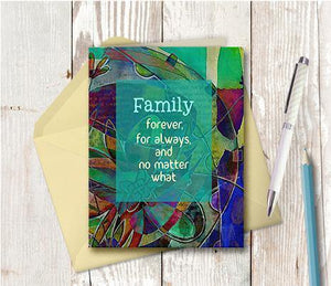 0541  Family Forever For Always Note Card