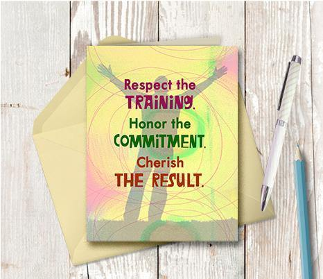 0547 Respect The Training Note Card