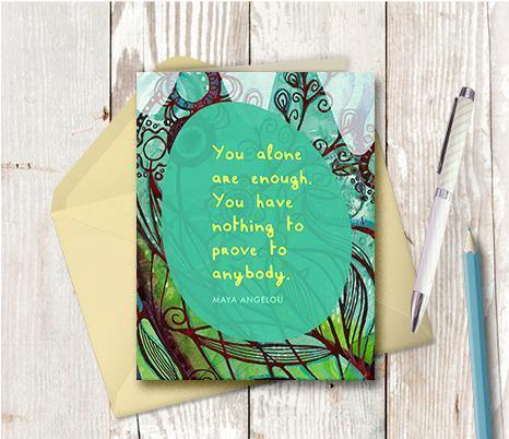 0549 Nothing To Prove Note Card - deloresartcanada