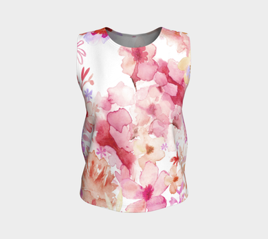 Harmonious garden Loose Tank in Muted Reds