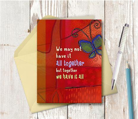 0550 All Together Note Card - deloresartcanada