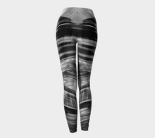 Tartan Cliffs Black Leggings by Deloresart