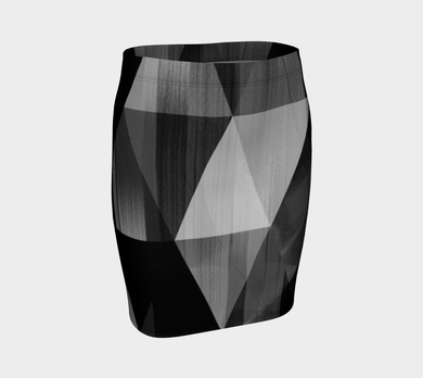 Unhinged Black Fitted Skirt by Deloresart