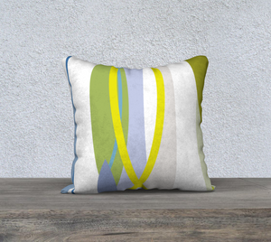 Side by Side Blues Throw Pillow by Deloresart