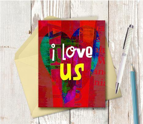 0574 I Love Us Note Card